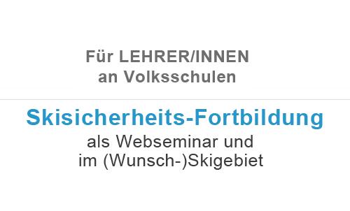 AUVA Skisicherheits-Fortbildung für Lehrer/innen an Volksschulen