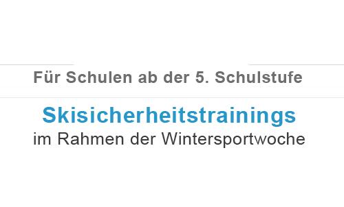 AUVA Skisicherheitstrainings ab der 5. Schulstufe